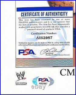 Wwe CM Punk Hand Signed Autographed 8x10 Original Promo Photo With Psa Dna Coa