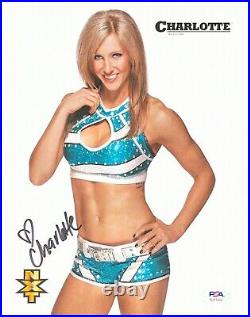 Wwe Charlotte Flair Hand Signed Autographed 8x10 Nxt Promo Photo With Psa Coa