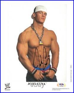 Wwe John Cena P-863 Hand Signed Autographed 8x10 Promo Photo With Psa Coa Rare