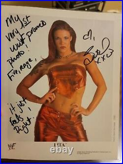 Wwe Lita P-609 Signed Promo Photo Very Rare Wwf Amazing Inscription Unreal