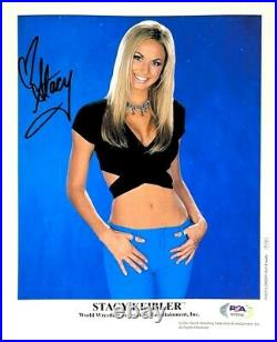 Wwe Stacy Keibler P-733 Hand Signed Autographed 8x10 Promo Photo With Psa Coa