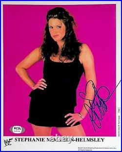Wwe Stephanie Mcmahon P-662 Hand Signed 8x10 Glossy Promo Photo With Psa Coa