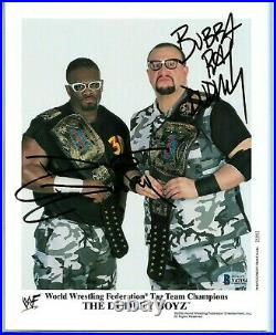Wwe The Dudley Boyz P-604 Hand Signed Autographed Promo Photo With Beckett Coa