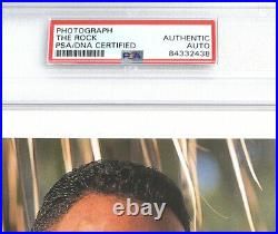 Wwe The Rock P-588 Hand Signed 8x10 Original Promo Photo Encapsulated By Psa Coa