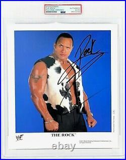 Wwe The Rock P-686 Hand Signed 8x10 Original Promo Photo Encapsulated By Psa Coa