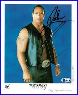 Wwe The Rock P-732 Hand Signed Autographed 8x10 Promo Photo With Beckett Coa