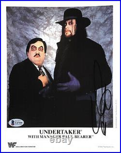 Wwe Undertaker P-229 Hand Signed Autographed 8x10 Promo Photo With Beckett Coa
