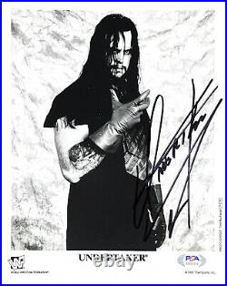 Wwe Undertaker P-279 Hand Signed Autographed 8x10 Promo Photo With Psa/dna Coa