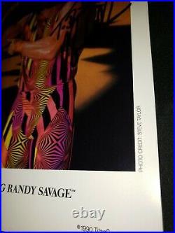 Wwe Wwf Macho Man Randy Savage Signed 1990 Original King Promo Photo To Bill Wcw