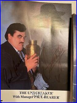 Wwe Wwf The Undertaker & Paul Bearer Signed Original 1992 Promo Photo P-96 Rip