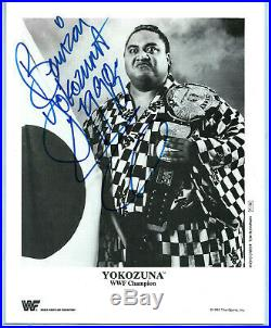 Wwe Yokozuna P-136 Hand Signed Autographed 8x10 Original Promo Photo With Coa