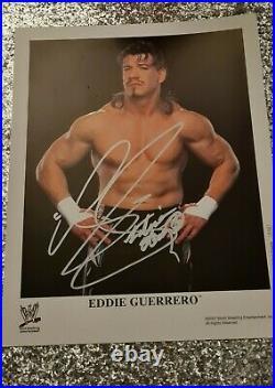 Wwe wwf eddie guerrero signed autographed promo photo 8x10 P-765 2002
