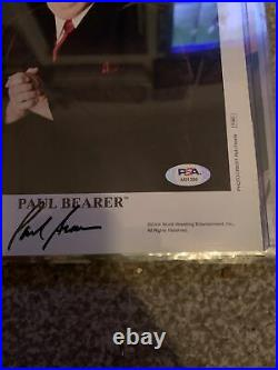 Wwf Paul Bearer Signed Psa Promo Photo 8x10 Rare RIP WWE undertaker