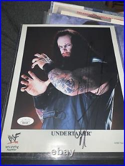 Wwf The Undertaker Signed Jsa 8x10 Promo Photo P-386 Rare Rip Wwe Paul