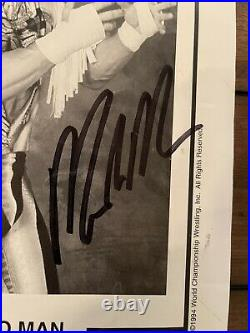 Wwf/wcw Signed Macho Man Randy Savage 8x10 Promo Photo