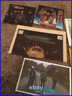 ZZ TOP signed autographed 8x10 promo photo Billy Dusty Frank Fan club collection